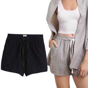 Aritzia Wilfred Bertaud Textured Drawstring Shorts